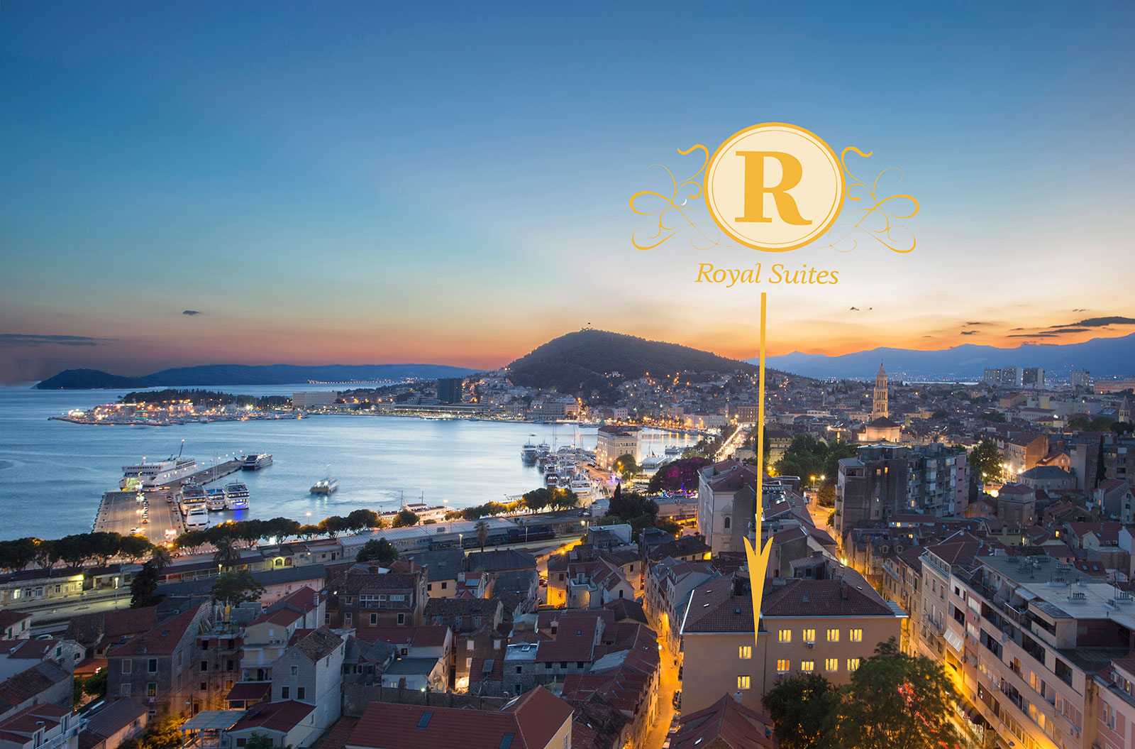 Perfect location for accommodation Split Croatia-Royal suites Split