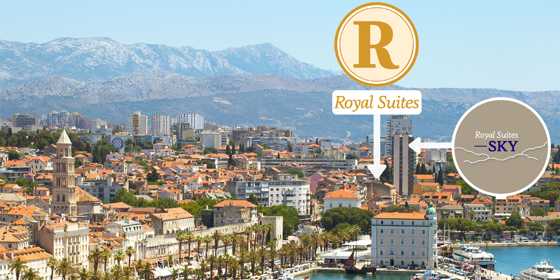 Royal Suites family run hotel close to ferry port, Diocletians palace and old town Split center